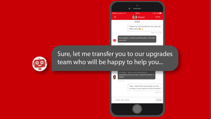 samenwerking chatbot webcare agent