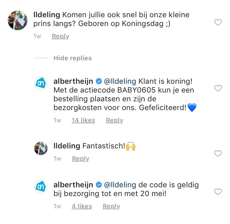 albert-heijn-post-instagram-reactie
