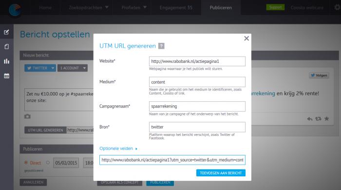 UTM URL genereren